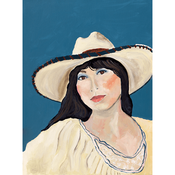 Dolores - Cowgirl Attitude Oil Painting