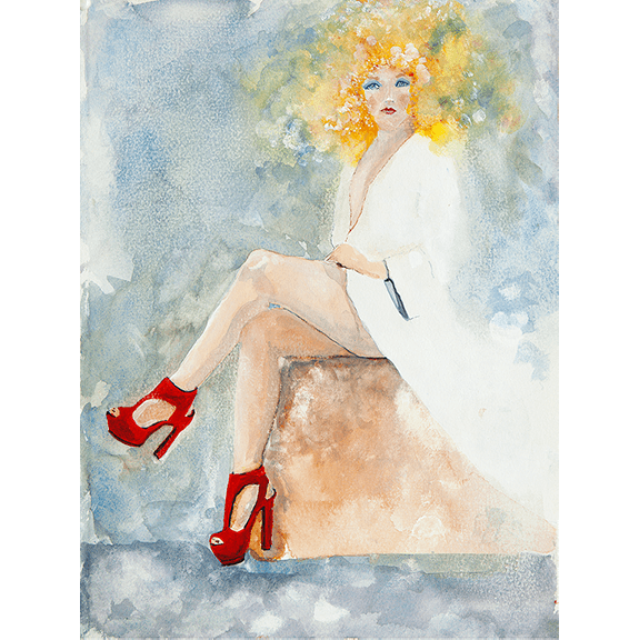 Red Shoes - Giclee Print